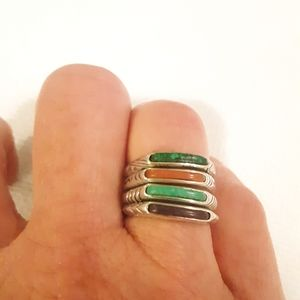 Carolyn Pollack Set of 4 Stackable Rings